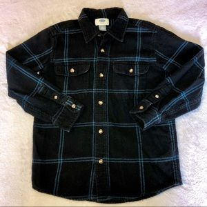 Boys Blue/Black Flannel Shirt